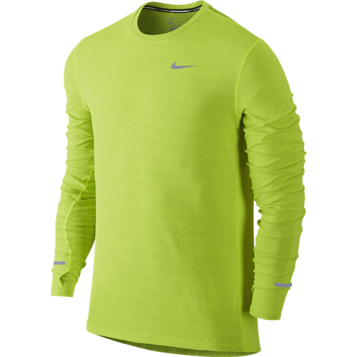 nike dri fit contour long sleeve running top coventry runner. Black Bedroom Furniture Sets. Home Design Ideas