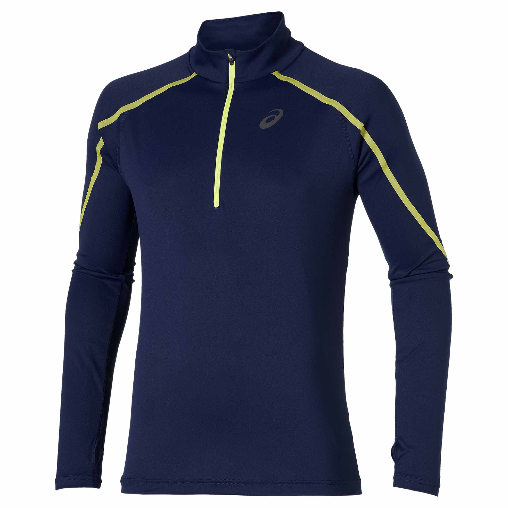 ASICS lite-show Long-Sleeve half-zip Running Top - Indigo blue