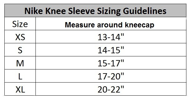 Nike Compression Sleeve Size Chart - Nike dri fit shirt ...